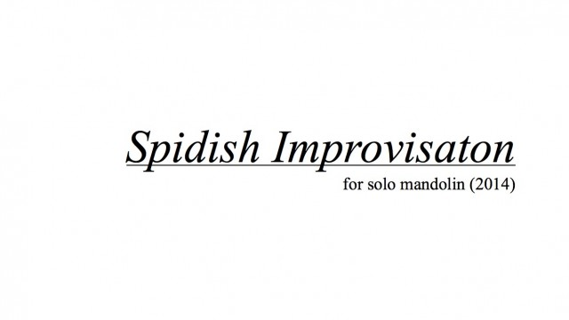 ELP010 Spidish Improvisation